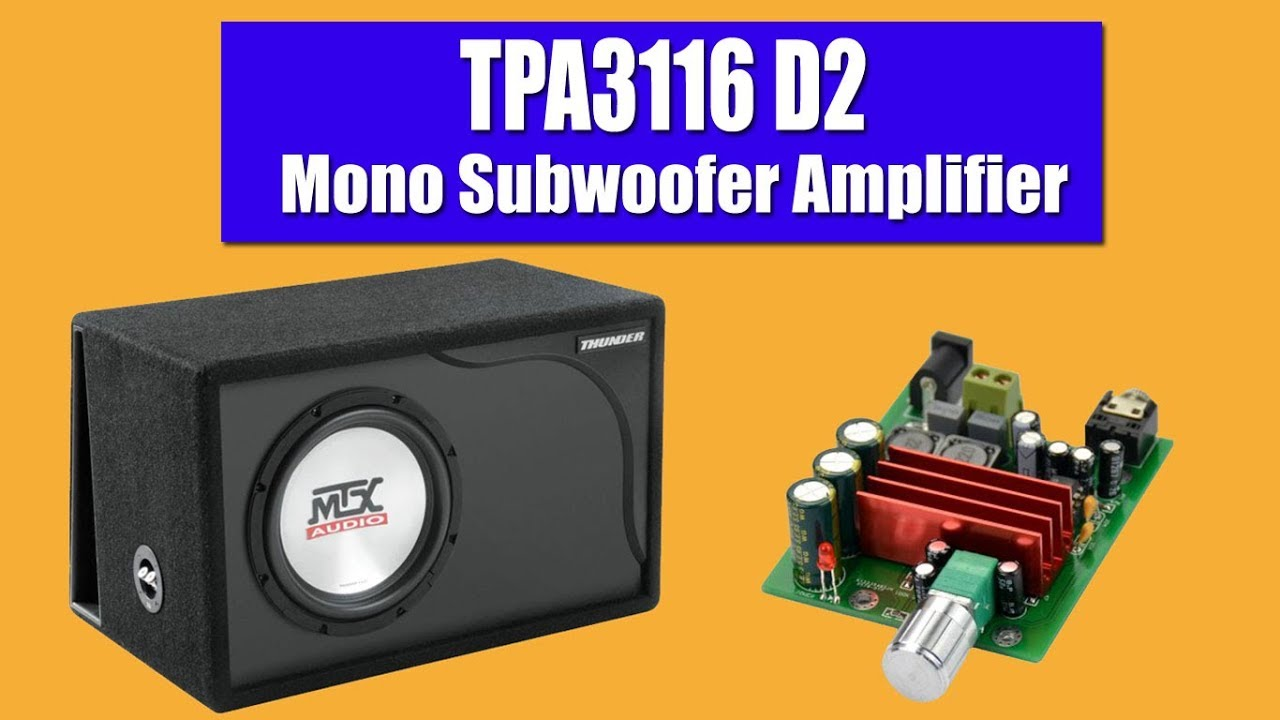 tpa3116d2 amplifier test 100 watt mono subwoofer. Black Bedroom Furniture Sets. Home Design Ideas