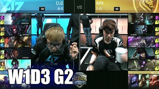 Apex Gaming vs CLG | Game 2 S6 NA LCS Summer 2016 Week 1 Day 3 | APX vs CLG G2 W1D3 1080p