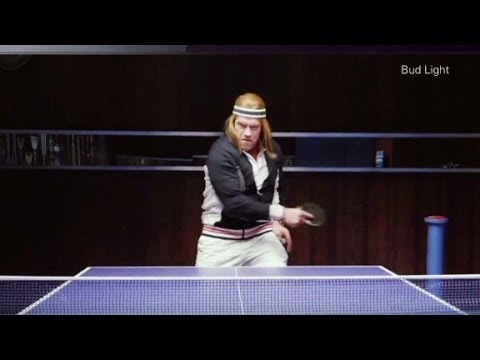 Super Bowl Ads: Unlikely stars take on ping-pong mania