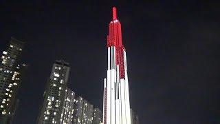 Biểu diễn đèn LED khai trương Vincom Landmark 81 - Tòa nhà cao nhất Việt Nam