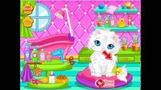 Игра для девочек: Уход за животными. Уход за котенком. Мультики для детей