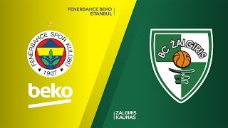 Fenerbahce Beko Istanbul - Zalgiris Kaunas Highlights | Turkish Airlines EuroLeague, RS Round 6
