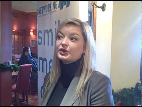 Deborah Perry of City Nites Ltd giving a testimoni...