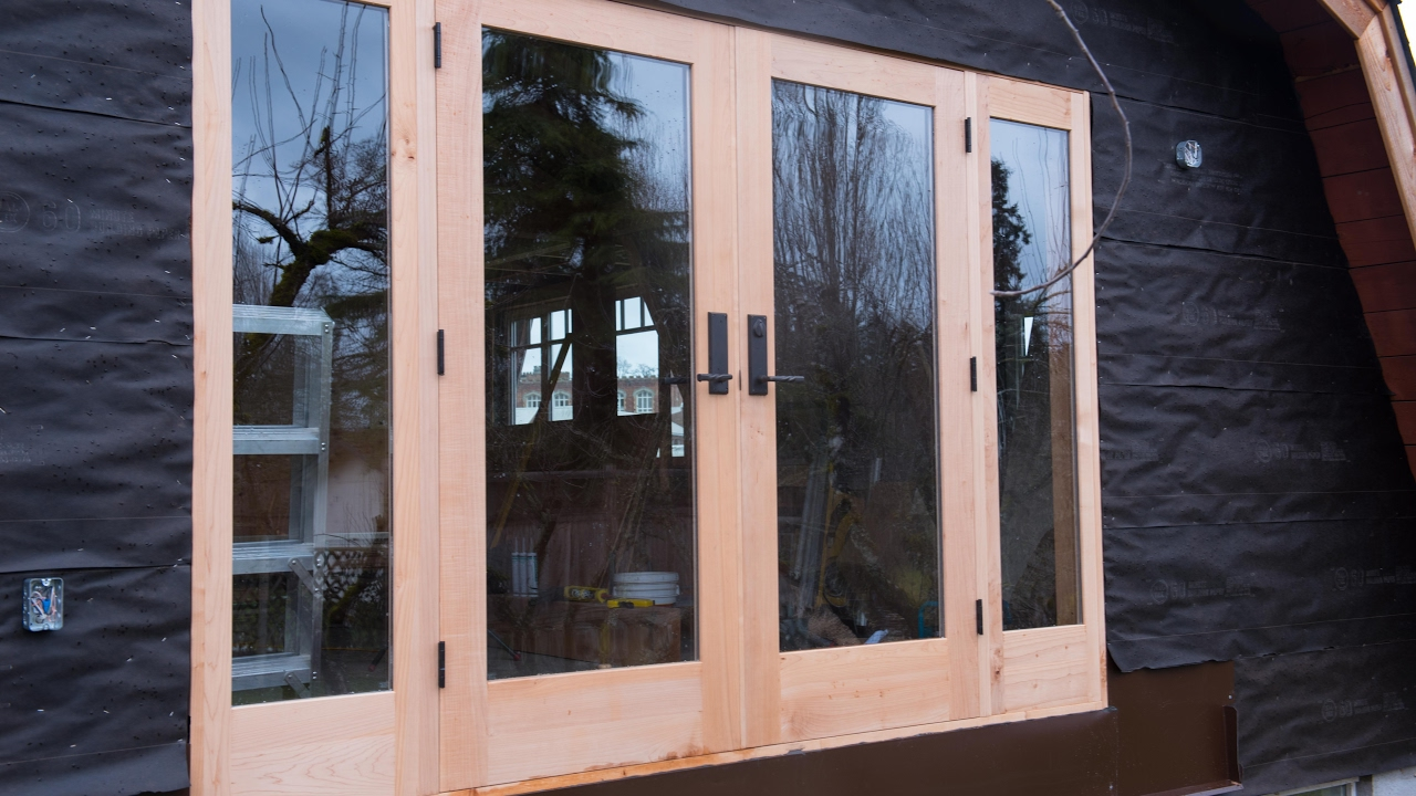 Timber Glass Doors Woodworking Building French Doors How To