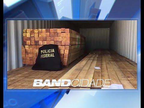Polícia Federal doará toneladas de madeira apreendidas em operação