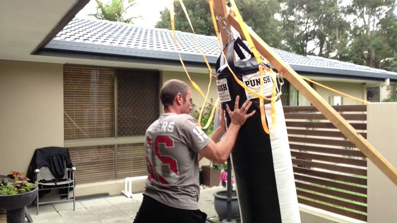 How To Hang A Heavy Punching Bag On The X Stand The Easy