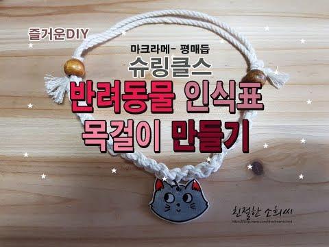 [핸드메이드 ]슈링클스 만들기 - 반려동물 인식표 매듭 목걸이 (고양이, 강아지)プラバン, shrinky dink, handmade