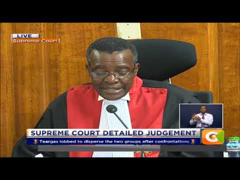 Chief Justice David Maraga  reads out detailed judgement