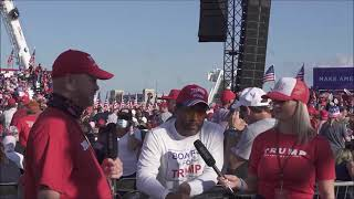The Buff Show talks to Sergio Michel about Trump financial policy, at 7,000 attendee Sanford rally!