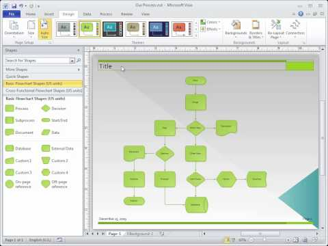 Visio 2010: Add titles and borders from a ribbon gallery