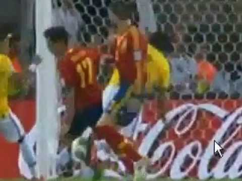 Brazil 1 - 0 Spain Goal : Fred Guedes