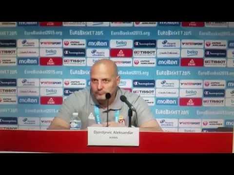 Srbija - Finska Press Conference Sasa Djordjevic Are you disappointed for the Croatia?