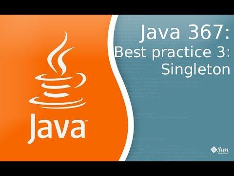 Урок Java 367: Best Practice 3: Singleton