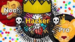 NOOB vs PRO vs HACKER in Agma.io ( Game Like Agar.io )