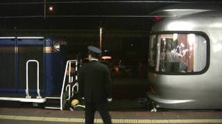 上野行きカシオペア号の函館駅でシーンです.