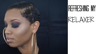HOW I REFRESH MY RELAXER ON MY SHORT CUT + MOLDING, MY ATTEMPT AT FINGERWAVES!