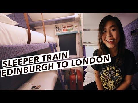 My First Overnight Train From London To Scotland   Caledonian Sleeper   Edinburgh Travel Vlog