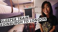 My First Overnight Train From London to Scotland | Caledonian Sleeper | Edinburgh Travel Vlog