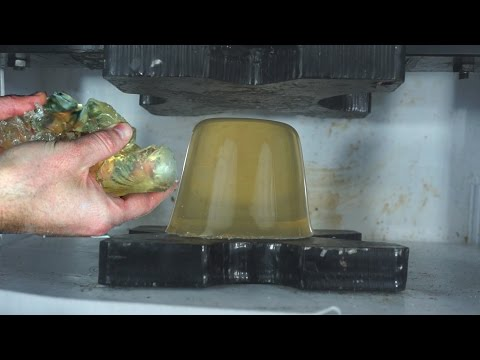 Ballistic Gel Crushed By Hydraulic Press And Exploded By Bomb