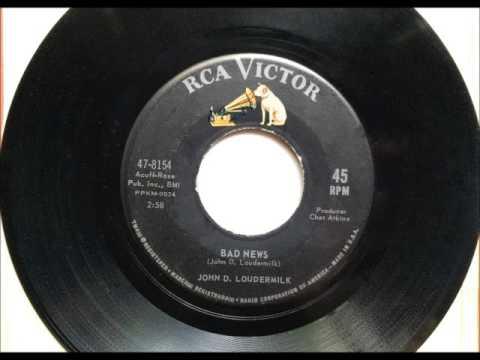Bad News , John D  Loudermilk , 1963 Vinyl 45RPM