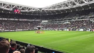 Juventus-Udinese 11/03/18 minuto di silenzio in memoria di Davide Astori