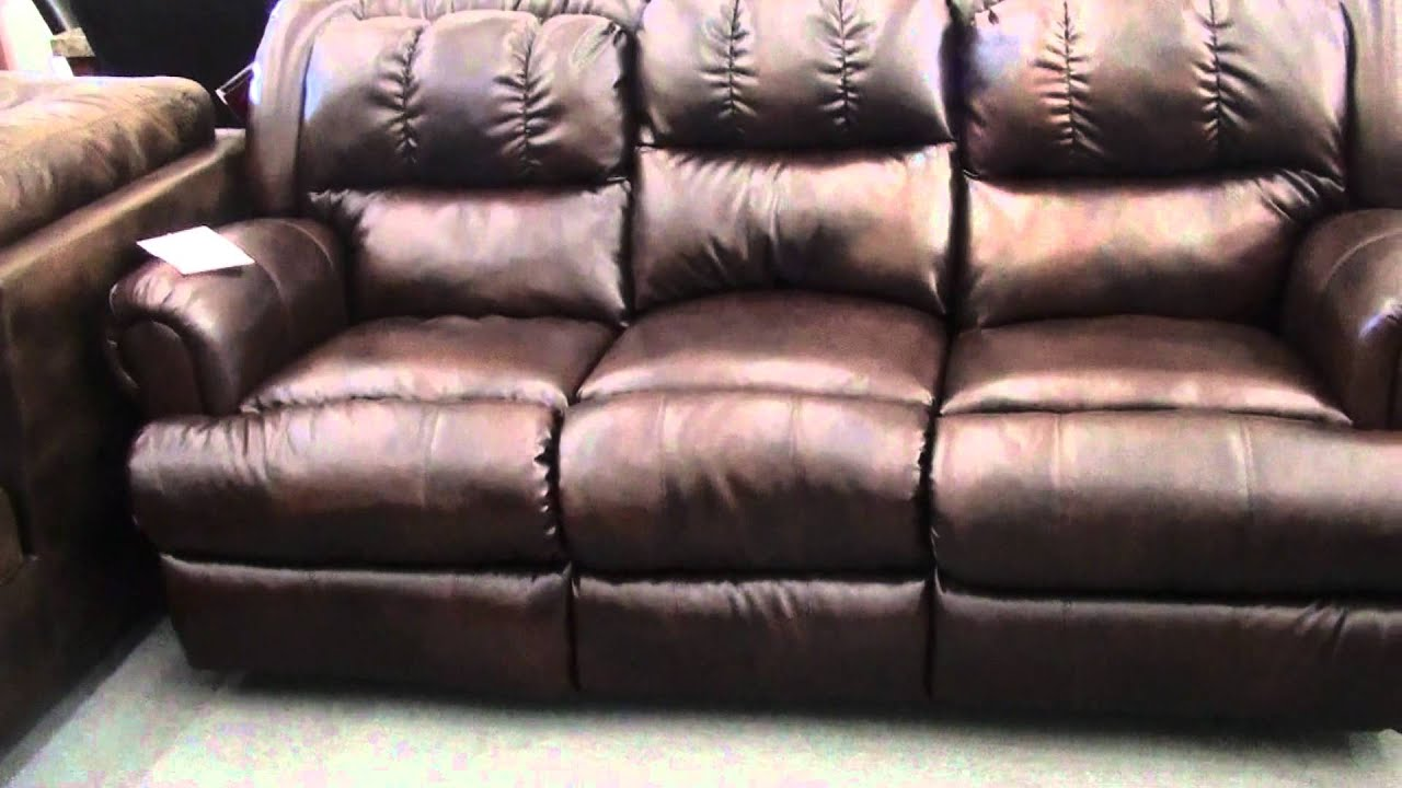 Lane Durablend Leather Recliner Sofa and Rocker Loveseat