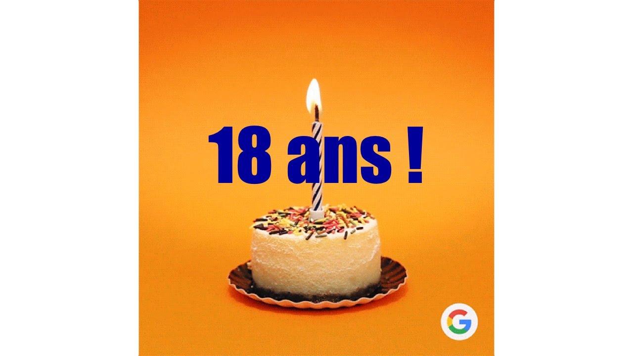 Google 18 Ans Bougie Gâteau Anniversaire