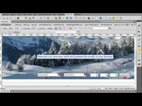 Holiday Reservation System with DMXzone Calendar 2