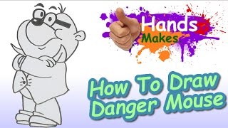 Easy How To Draw Penfold From The CBBC Danger Mouse  Cartoon