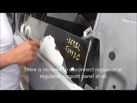 How to install a Chrysler Town and Country and Caravan  Slider Door Glass