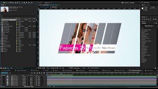 After Effects 2015 Split & Slide Mask Tutorial | Sliding Intro Presentation