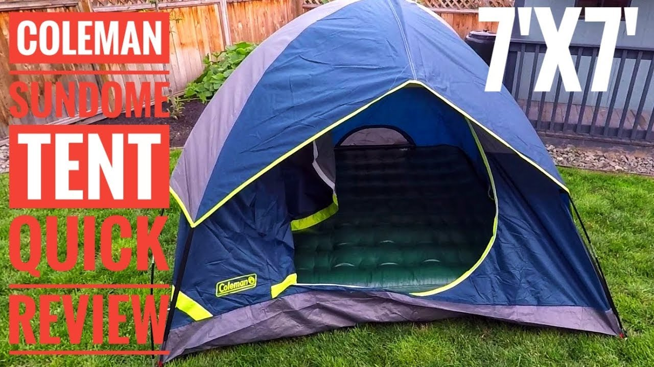 quality design 2bb5f bf782 Coleman Tent Sundome 3 Person Quick Review