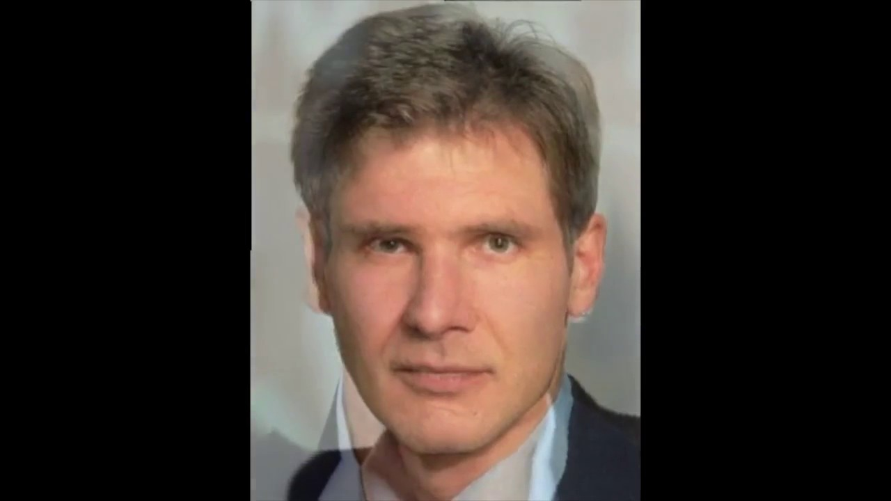 harrison ford transition from a young to old man - youtube
