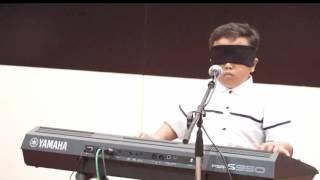 Jefri Setiawan - Mainkan Keyboard dengan Mata Tertutup