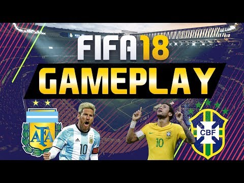FIFA 18 GAMEPLAY VOLLVERSION   BRASILIEN VS ARGENTINIEN [FIFA 18 GAMEPLAY]