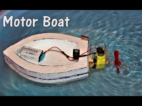 How to make an Electric Motor Boat - EASY thumbnail