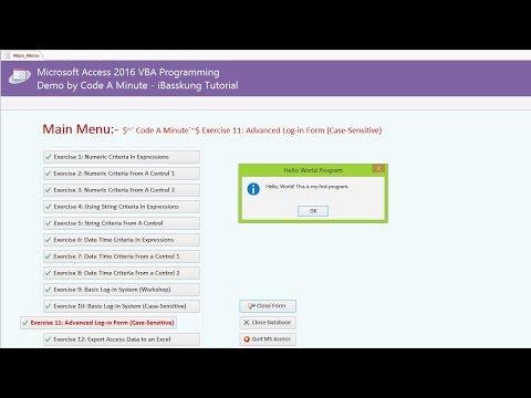 สอน Access VBA - สร้าง Hello World Program โดยใช้ Standalone Macro