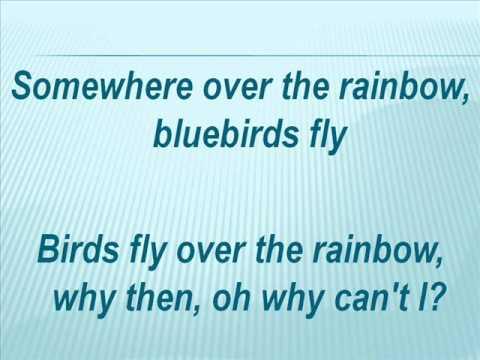 Céline Dion - Over the Rainbow (with lyrics)