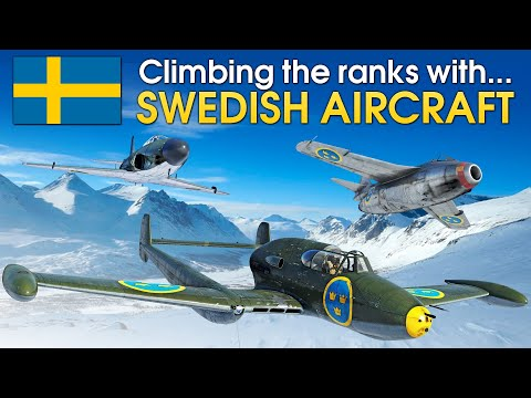 Climbing the ranks with SWEDISH AIRCRAFT / War Thunder