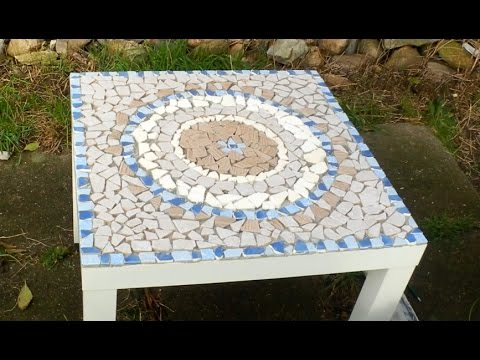 diy mosaiktisch aus fliesenresten mandala ooffenbar youtube. Black Bedroom Furniture Sets. Home Design Ideas