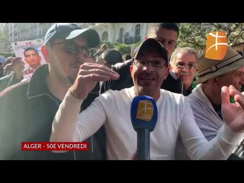 Alger, 37e vendredi Drifa Ben M'hidi Aau micro de Berbère Télévision from YouTube · Duration:  52 seconds