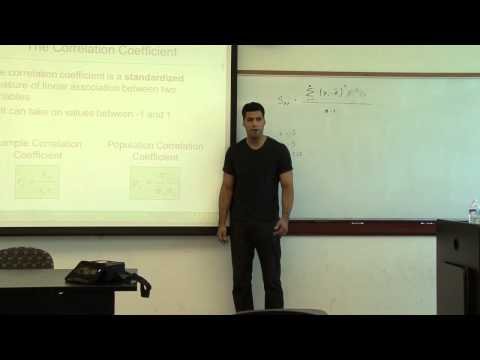 Statistics Lecture 2014 part 3 - Measures of Association, correlation coefficient, z-score