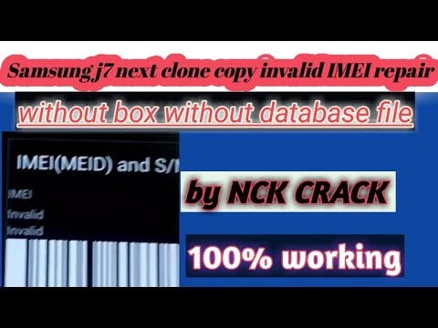Samsung j7 nxt /j701f/copy clone invalid imei repair/all mtk without  database file imei repair