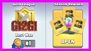 CLASH ROYALE - 4X GOLD LEAGUE CLAN WARS CHEST OPENING