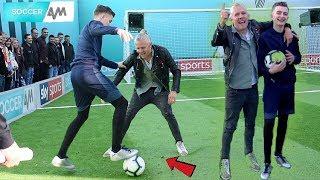 CAN I NUTMEG A PRO FOOTBALLER ON LIVE TV !? (JIMMY BULLARD) *SOCCER AM CHALLENGE*