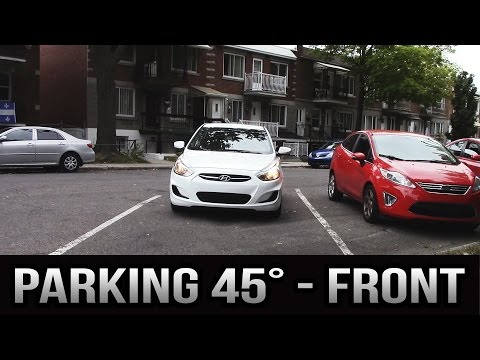 Parking 45 degrees - Front, to the left
