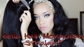 Unboxing DHGate Review | Bella Hair Mongolian Straight | THIS HAIR THO!!