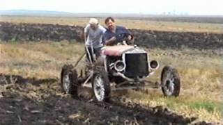 Model T Ford Tractor Plowing #2