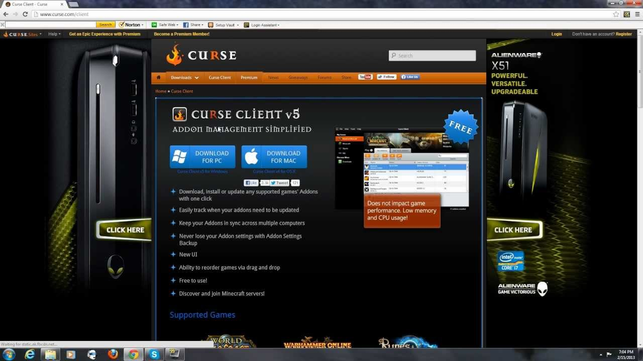 How to install WoW Addons thru curse client