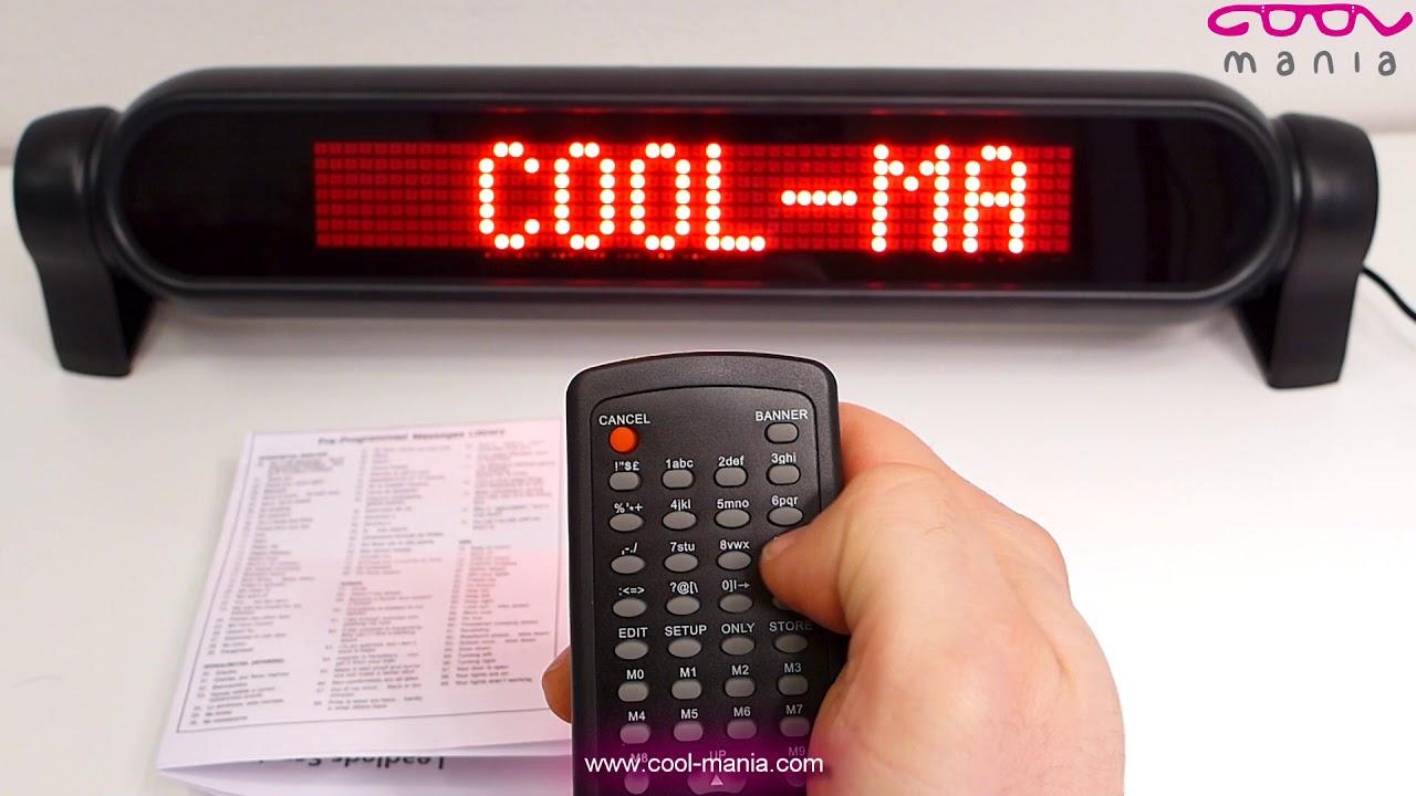Tutorial- Auto LED Programmable display board - 42 cm x 8,5 cm  (www cool-mania com)
